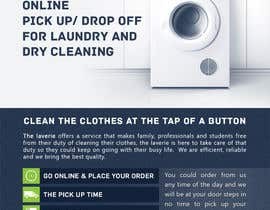 #8 untuk Design a Flyer for online pick up/ drop off for laundry and dry cleaning oleh mufzilkp