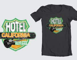 nº 97 pour Vintage T-shirt Design for HOTEL CALIFORNIA par dyeth