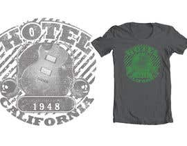 #118 untuk Vintage T-shirt Design for HOTEL CALIFORNIA oleh dyeth