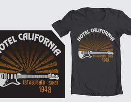 nº 82 pour Vintage T-shirt Design for HOTEL CALIFORNIA par dyeth
