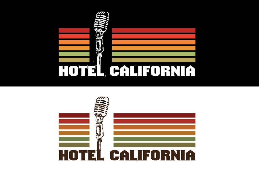 Entri Kontes #                                        72                                      untuk                                        Vintage T-shirt Design for HOTEL CALIFORNIA