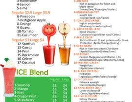 #8 para Design a menu for a juice stall por LampangITPlus