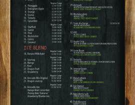 #14 para Design a menu for a juice stall por jacklai8033399