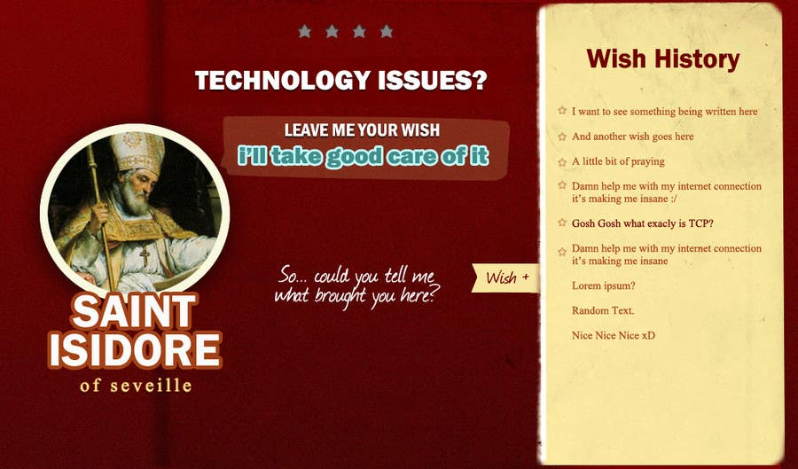 Contest Entry #                                        2                                      for                                         Graphic Design for One page web site for the Saint Of the Internet: St. Isidore of Seville