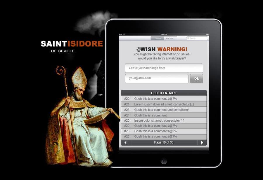 Bài tham dự cuộc thi #14 cho Graphic Design for One page web site for the Saint Of the Internet: St. Isidore of Seville