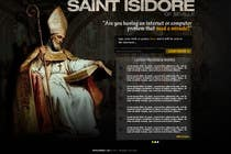 Graphic Design Entri Kontes #9 untuk Graphic Design for One page web site for the Saint Of the Internet: St. Isidore of Seville