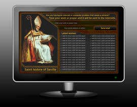 #8 para Graphic Design for One page web site for the Saint Of the Internet: St. Isidore of Seville por designsektor