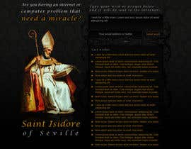 nº 10 pour Graphic Design for One page web site for the Saint Of the Internet: St. Isidore of Seville par designsektor