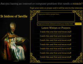 #11 para Graphic Design for One page web site for the Saint Of the Internet: St. Isidore of Seville por joka232