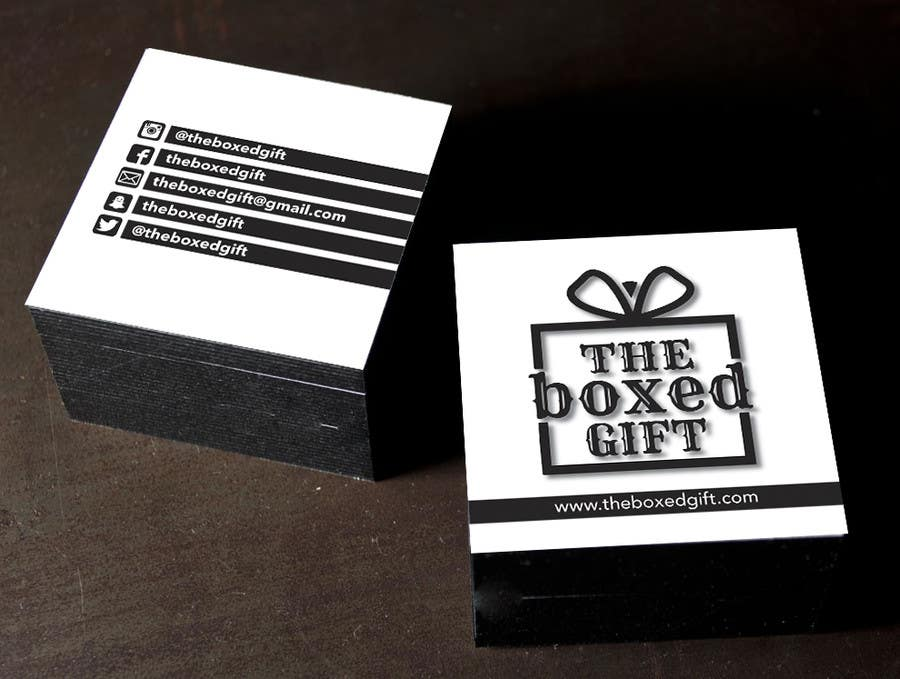 Bài tham dự cuộc thi #21 cho Design Social Media Business Cards for The boxed Gift