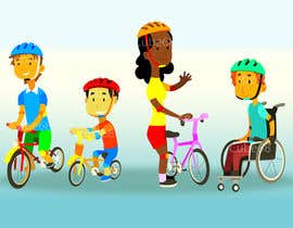 #10 para Cartoon & character design: Inclusive cycling program por Cube88
