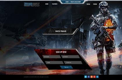 kreativeminds tarafından Design a Website Mockup for RTS Browser Game için no 21