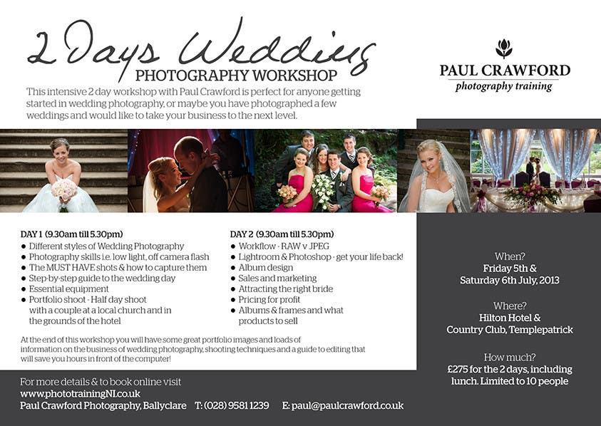 Bài tham dự cuộc thi #                                        22                                      cho                                         Design a Flyer for my wedding photography workshops