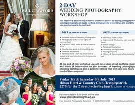 #39 untuk Design a Flyer for my wedding photography workshops oleh pris