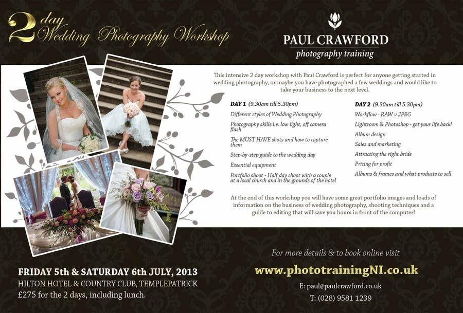 Bài tham dự cuộc thi #                                        24                                      cho                                         Design a Flyer for my wedding photography workshops