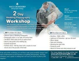 #25 untuk Design a Flyer for my wedding photography workshops oleh earlybirdvw