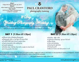nº 31 pour Design a Flyer for my wedding photography workshops par nandaH