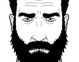 #16 cho Illustrate a tough manly masculine bearded rough FACE bởi marcokap