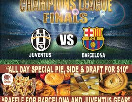 aquinojovenchris tarafından Design a Flyer for Restaurant Screening Champions League Final için no 10