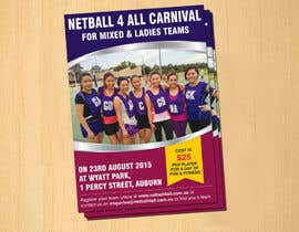 dinesh0805 tarafından Design a Flyer for Netball Carnival için no 17
