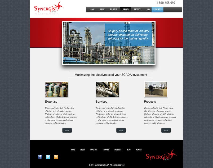 Contest Entry #                                        31                                      for                                         Wordpress Theme Design for Synergist SCADA INC