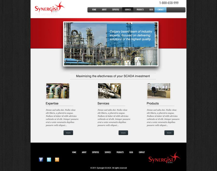 Contest Entry #                                        28                                      for                                         Wordpress Theme Design for Synergist SCADA INC
