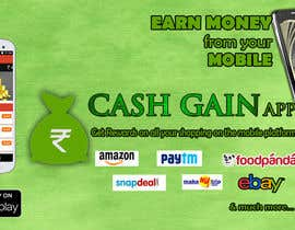#13 untuk Design a Coverpage & Banner for Cash Gain App oleh harshanadineth