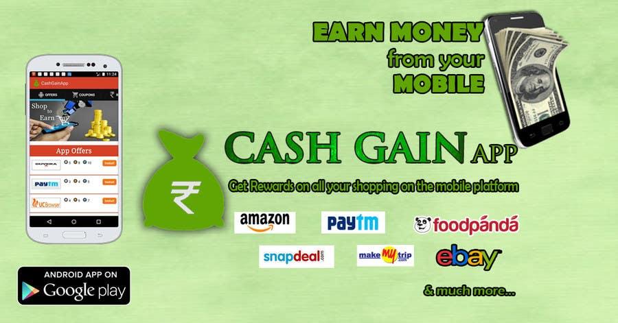 Konkurrenceindlæg #15 for Design a Coverpage & Banner for Cash Gain App