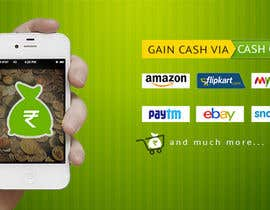 #4 for Design a Coverpage & Banner for Cash Gain App af rituhanda