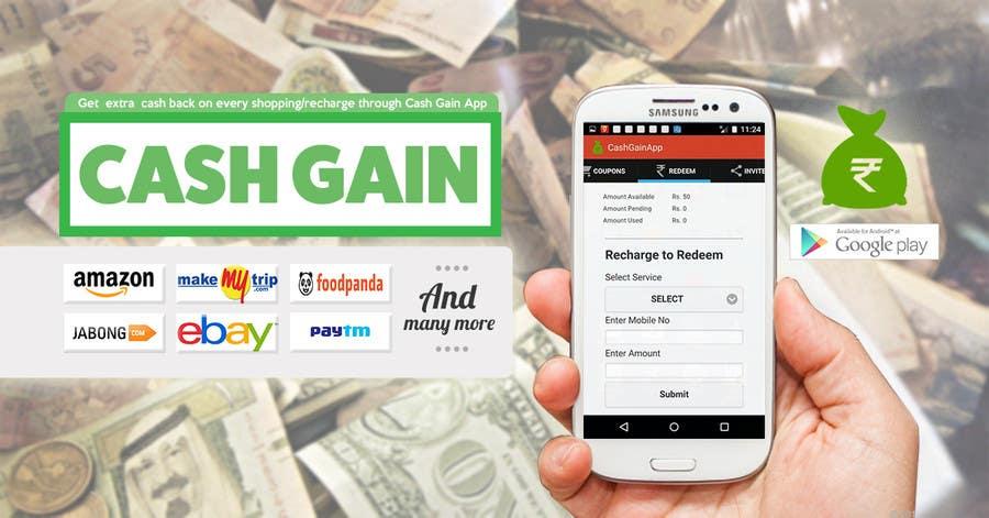 Penyertaan Peraduan #10 untuk Design a Coverpage & Banner for Cash Gain App