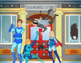 Nro 58 kilpailuun Illustrate Something for Birthday Present - 3 real people turned into cartoon heroes käyttäjältä pendavewh