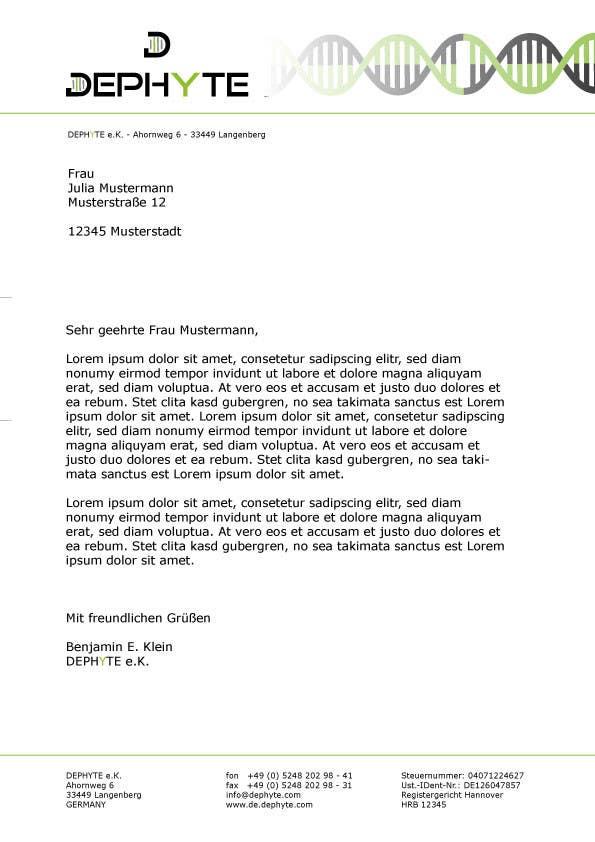 Bài tham dự cuộc thi #3 cho Ich benötige ein grafisches Design for a letter header