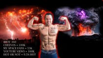 Graphic Design Entri Peraduan #7 for Add Muscles, Lightning, Fire and Awsomeness to a photo of Me