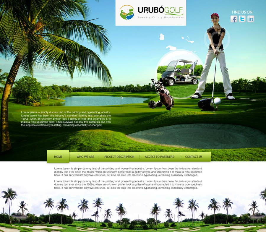 #13 for Urubo Golf Design by deziner313
