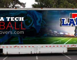 #8 untuk Design Banner/Wrap for Louisiana Tech Football Truck oleh leandeganos