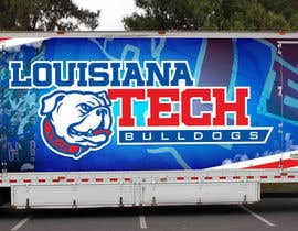 #6 untuk Design Banner/Wrap for Louisiana Tech Football Truck oleh acmnonni