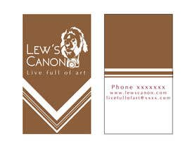 #6 para Design a Business Card for Lew's Canon por mohinimenon