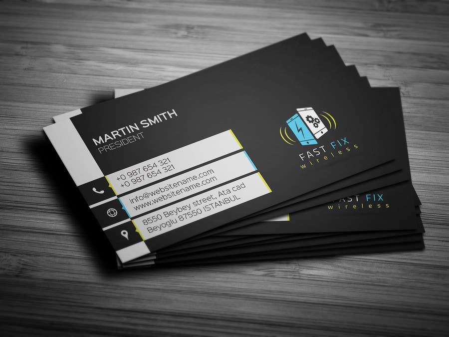 contest entry 7 for provide a business card which defines the mobile repair industry - Mobile Business Card