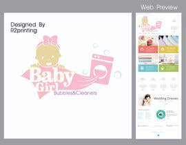 #8 cho Design a Logo for Baby Girl Bubbles & Cleaners bởi ray2printing