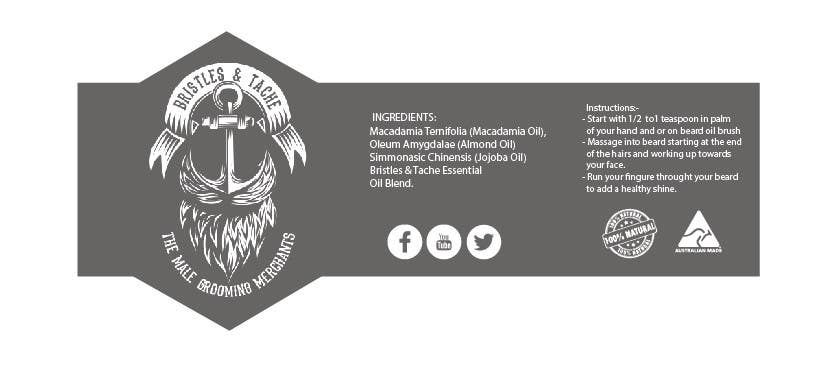 Konkurrenceindlæg #3 for Design 3 Beard Oil Labels for new products launch