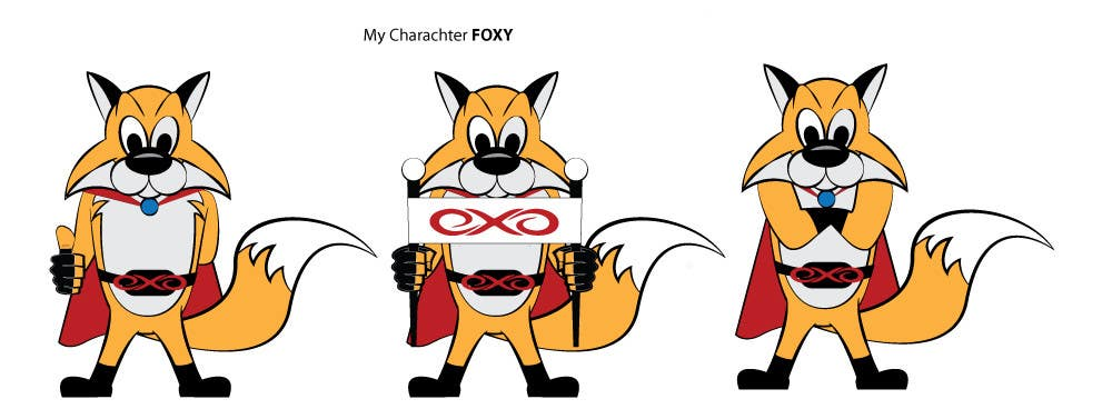 Kilpailutyö #19 kilpailussa Graphic design for new character,