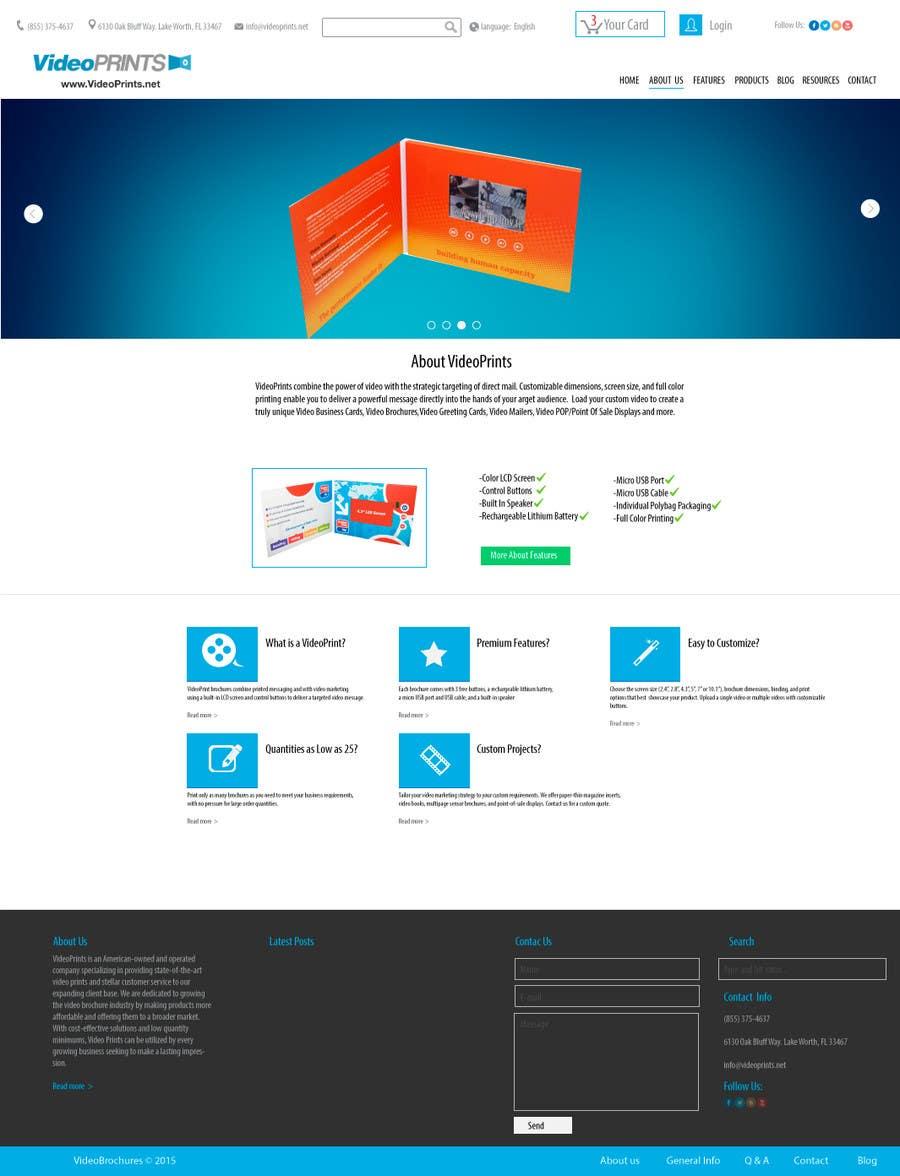 Penyertaan Peraduan #11 untuk ReDesign 4 Website Pages For Existing WordPress Website