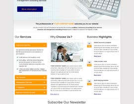 #33 untuk Design a Website home page for new firm of Accountants in the UK oleh SantoJames