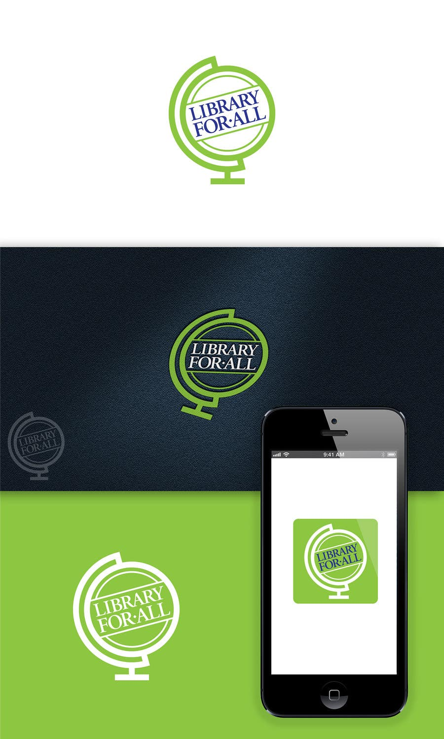Penyertaan Peraduan #330 untuk Design a Logo for the Library For All application!