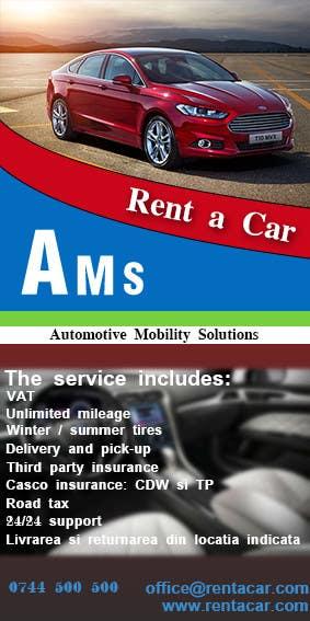 Kilpailutyö #2 kilpailussa Design a Flyer for AMS RENT A CAR