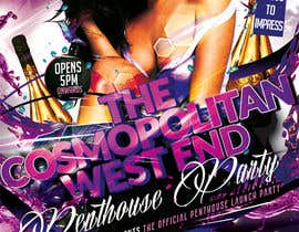 #16 para Design a Flyer for The Cosmopolitan Westend Penthouse Party por mirandalengo