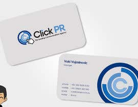 nº 82 pour Business Card Design for Click PR par elindana
