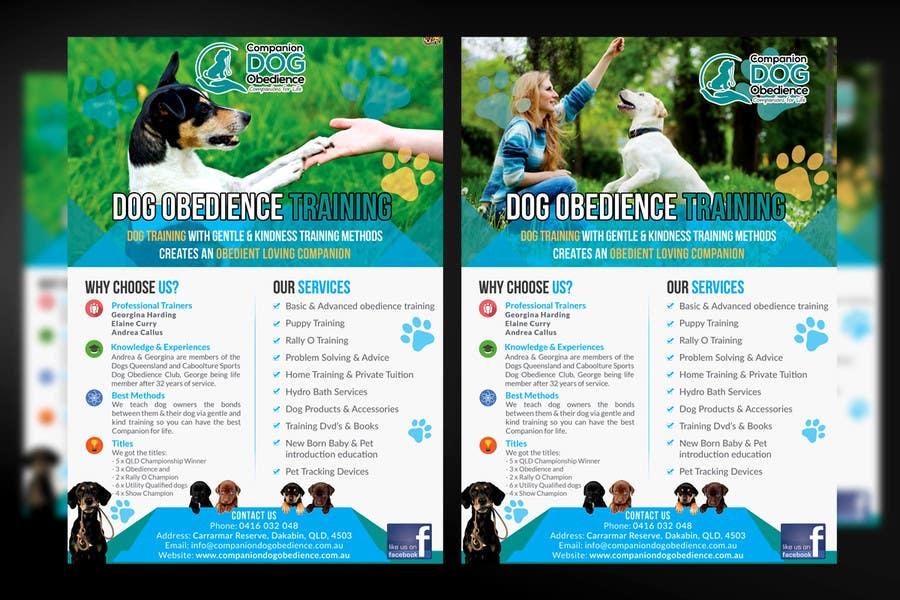 Penyertaan Peraduan #22 untuk Dog Obedience Flyer Design