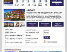 #5 for Design a Website Mockup for real estate pre-construction database by kash03vw