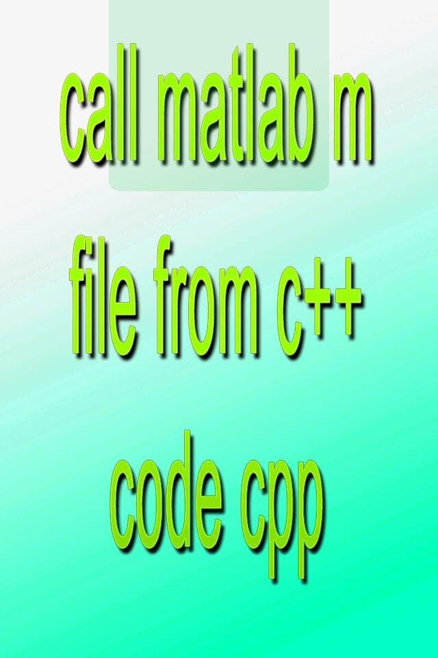Inscrição nº                                         14                                      do Concurso para                                         call matlab m file from c++ code cpp
